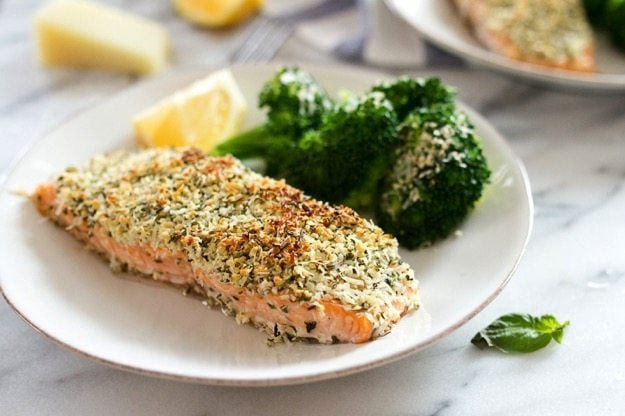 Quick and Easy Hemp and Pecorino Crusted Salmon