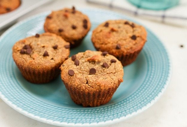 No one will ever guess that these delicious Almond Flour Chocolate Chip Muffins are paleo, gluten-free and sweetened with dates!