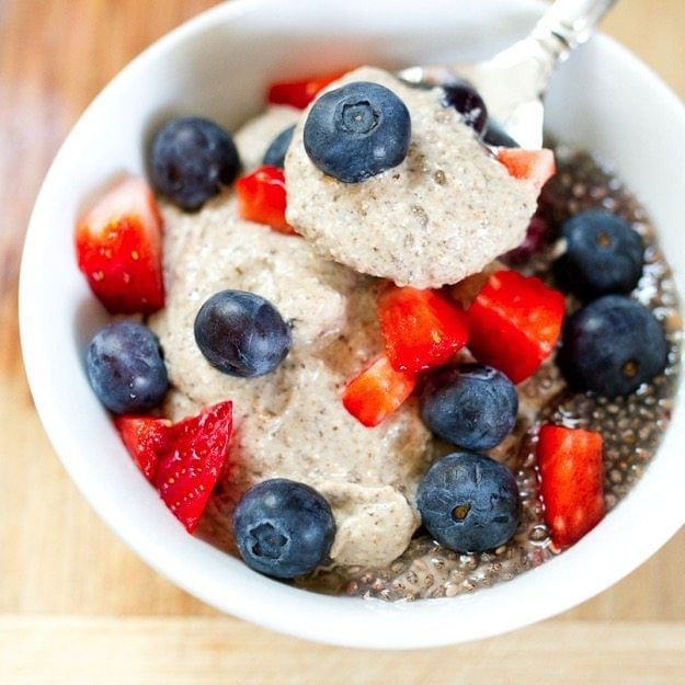 Eating Clean Creamy Breakfast Chia Pudding #dairyfree #glutenfree #vegan