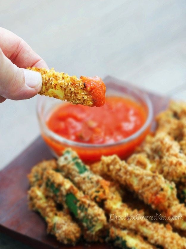 Healthy Crispy Baked Zucchini Fries Recipe