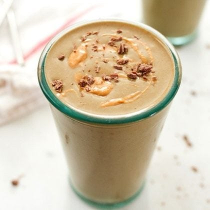 Peanut Butter Cup Smoothie with Hemp Protein