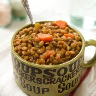 Roasted Garlic Lentil Soup