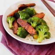 Garlic Teriyaki Tempeh and Broccoli
