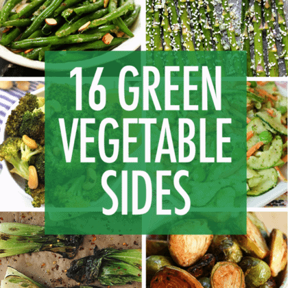 16 Green Vegetable Side Dishes