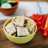 3 Ingredient Homemade Almond Crackers