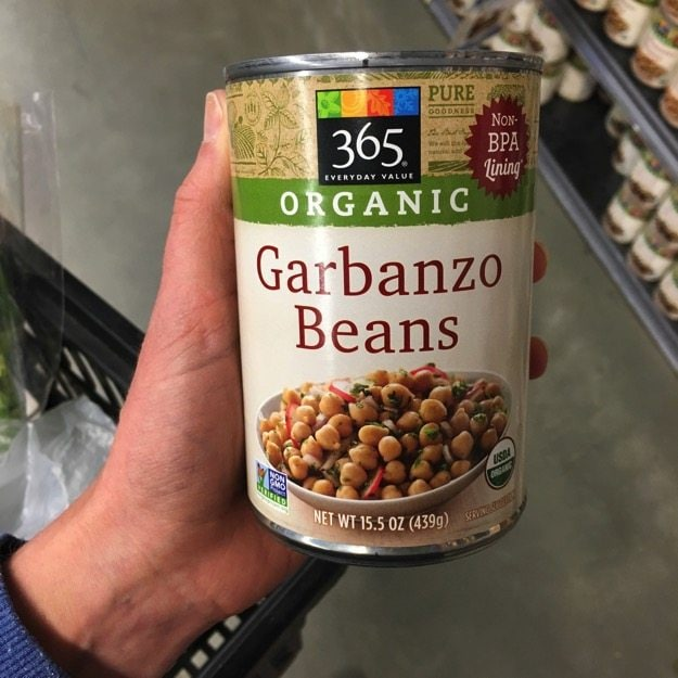 365 Whole Foods Store Brand Garbanzo Beans
