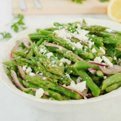 Asparagus Feta Salad