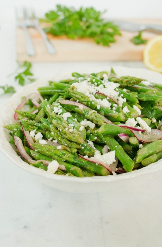 Lemony Green Bean Salad With Feta, Red Onion, And Marjoram ...