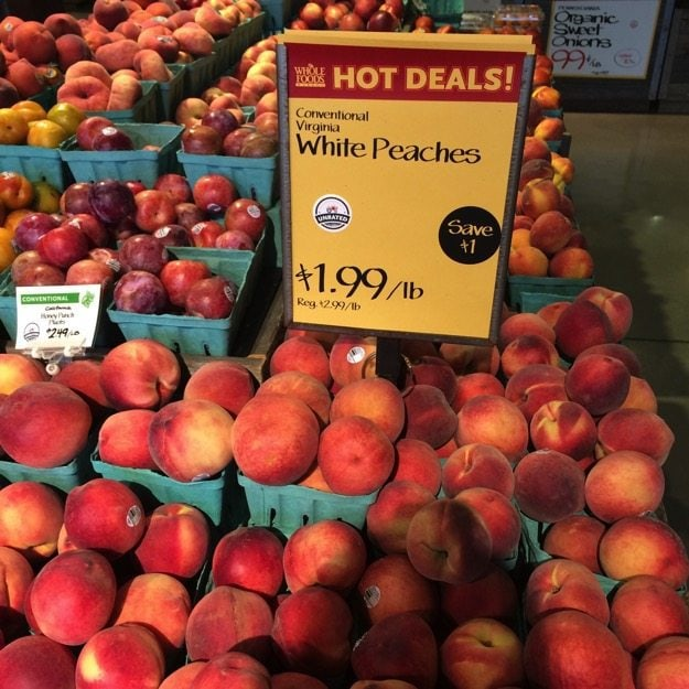 Peaches On Sale at Whole Foods