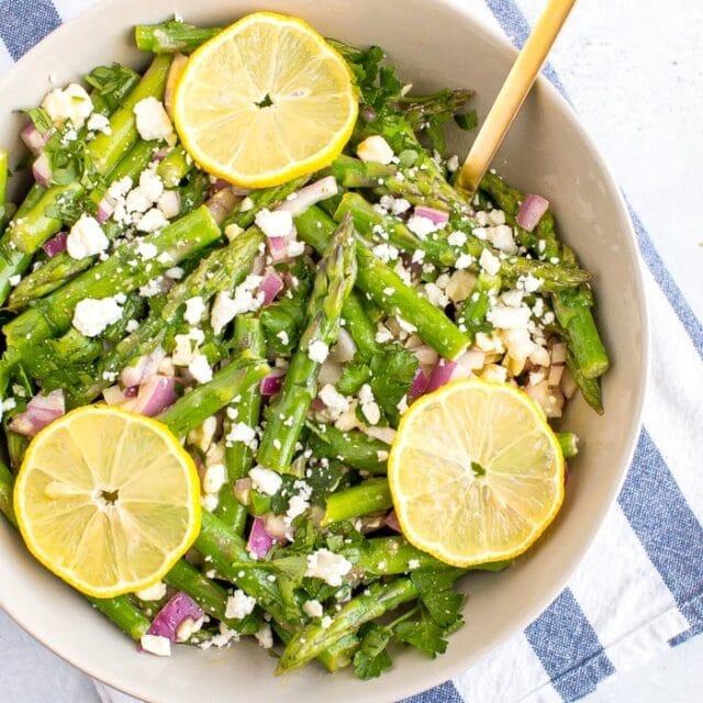 Asparagus Salad with Lemon and Feta