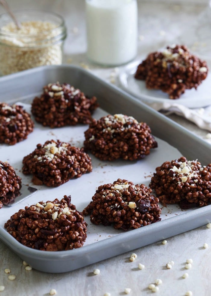 Chocolate Cranberry Puffed Millet Cookies 1