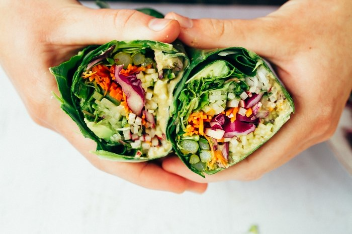 Hummus collard wraps
