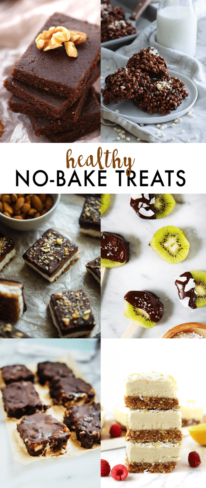 6 HEALTHY No Bake Treats