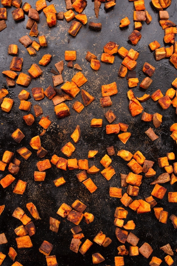 So these sweet potato croutons aren't anything too complicated or ...