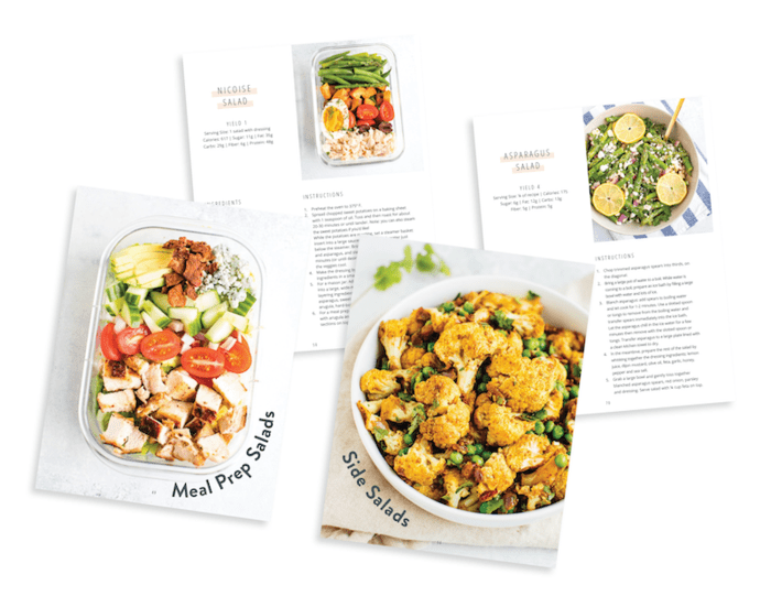 Salad Every Day ebook two page spread