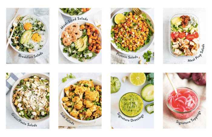 Salad Every Day ebook covers for each chapter