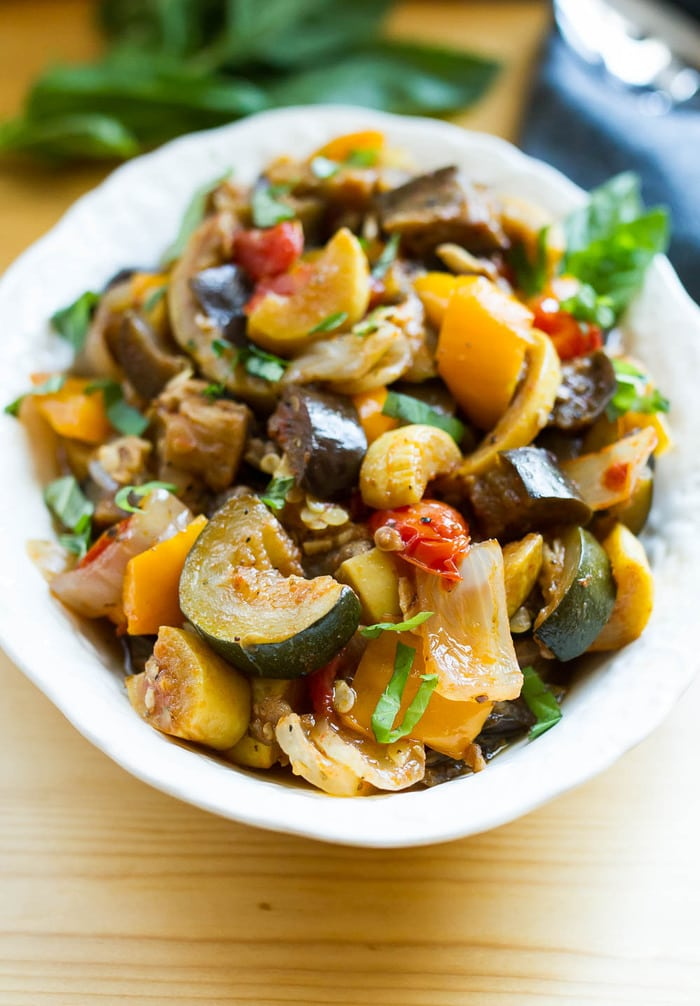 Slow Cooker Ratatouille -- serve as a side, over pasta or bread, with a grilled protein or even in an omelet.