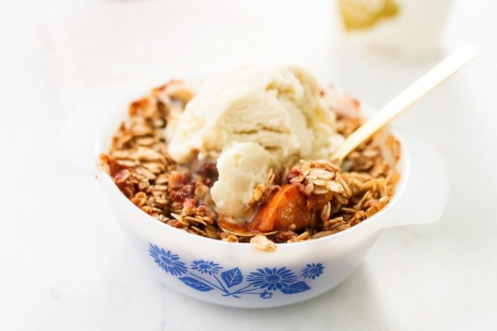 Healthy Single-Serving Peach Crisp