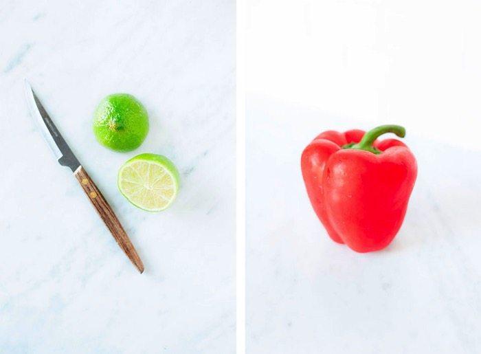 Peanut noodle salad red pepper limes // loveleaf co