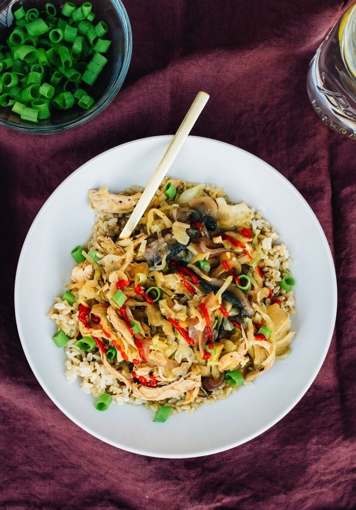 One Pot Chicken and Cabbage Bowl from Dinner Made Easy