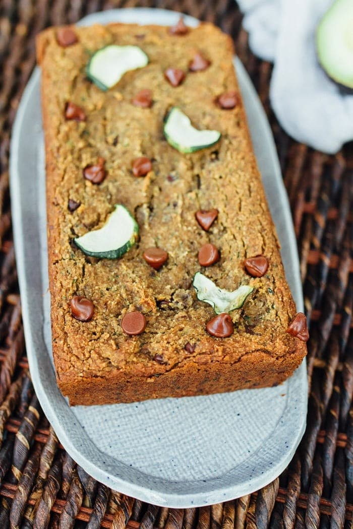 DELICIOUS Vegan Almond Flour Zucchini Bread with Chocolate Chips