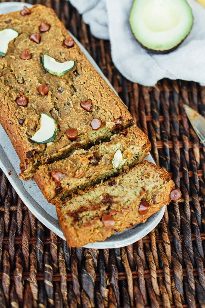 DELICIOUS and EASY Vegan Almond Flour Zucchini Bread with Chocolate Chips