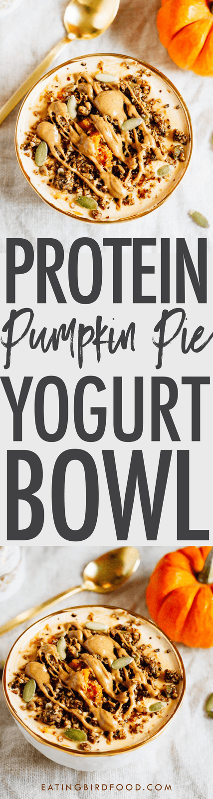 Pumpkin Pie Yogurt Bowl