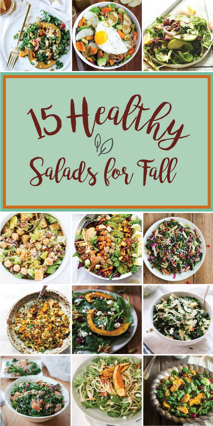 15 HEALTHY and DELICIOUS fall salads!