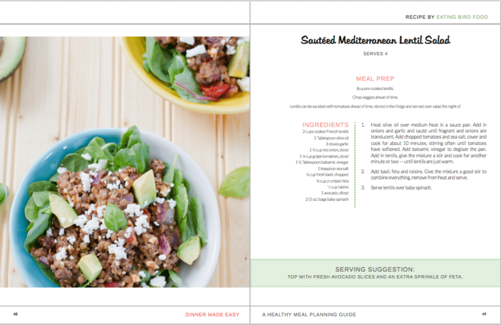 A recipe from Dinner Made Easy Ebook -- A Healthy Meal Planning Guide