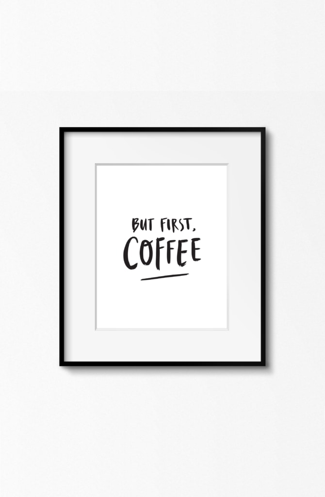 Happy thoughts first coffee poster signage 001 670x1024