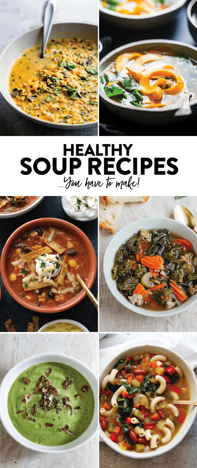 HEALTHY and Delicious Soup Recipes