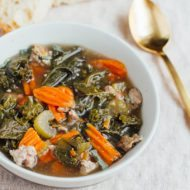 Slow Cooker Sausage Kale Soup