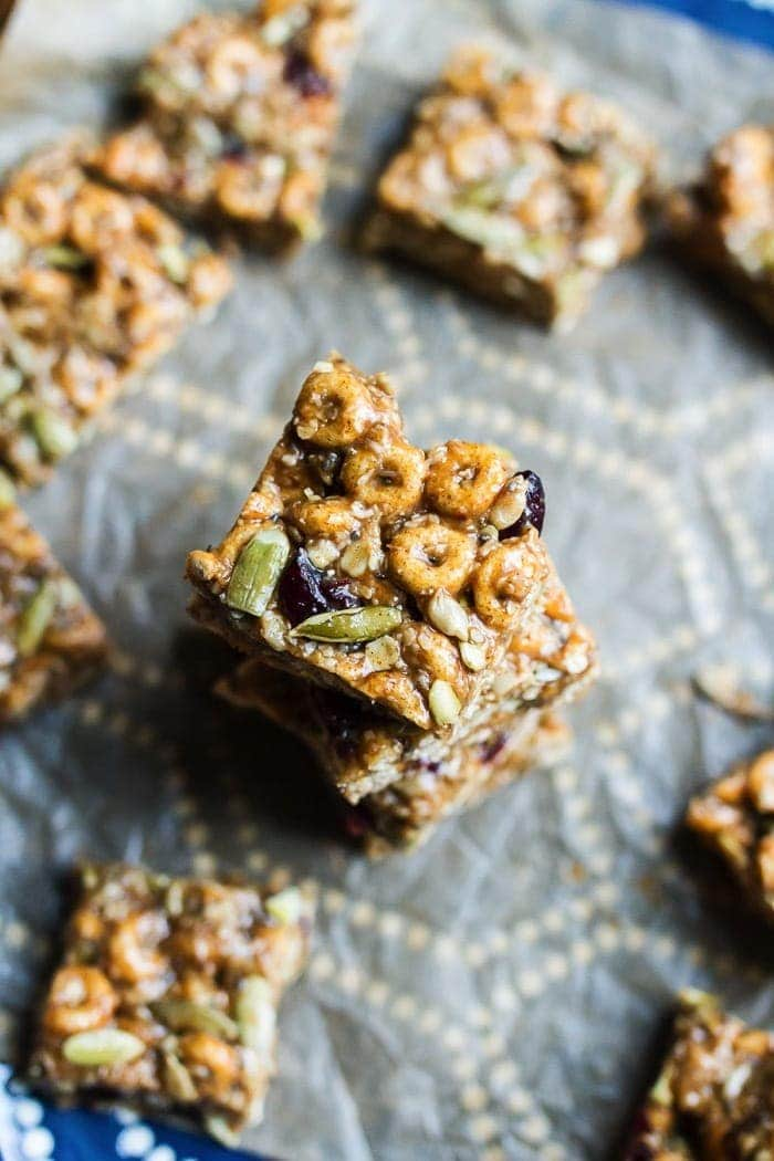 These DELICIOUS Pumpkin Spice Cereal Squares are a fall spin on my original recipe for superfood cereal squares. They're loaded with good for you ingredients and full of pumpkin spice flavor. Gluten and dairy-free!