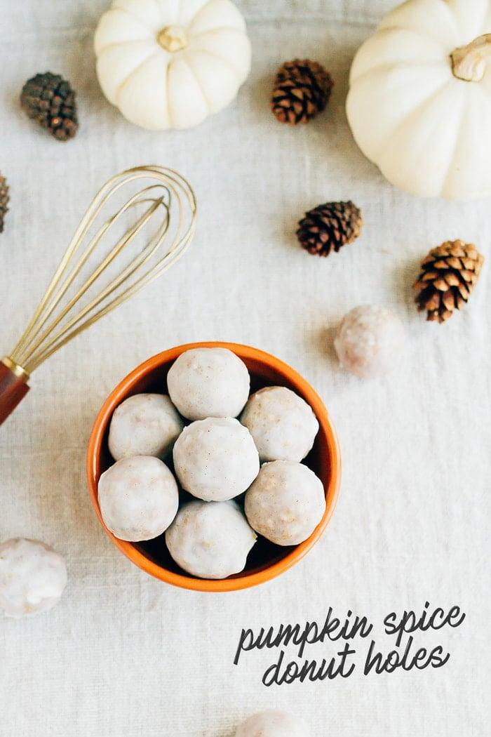 No Bake Pumpkin Spice Donut Holes // Vegan, Gluten-Free, Paleo