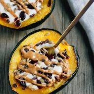 Acorn Squash Breakfast Bowls with Yogurt