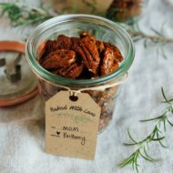Rosemary Candied Pecans + Printable Gift Tags