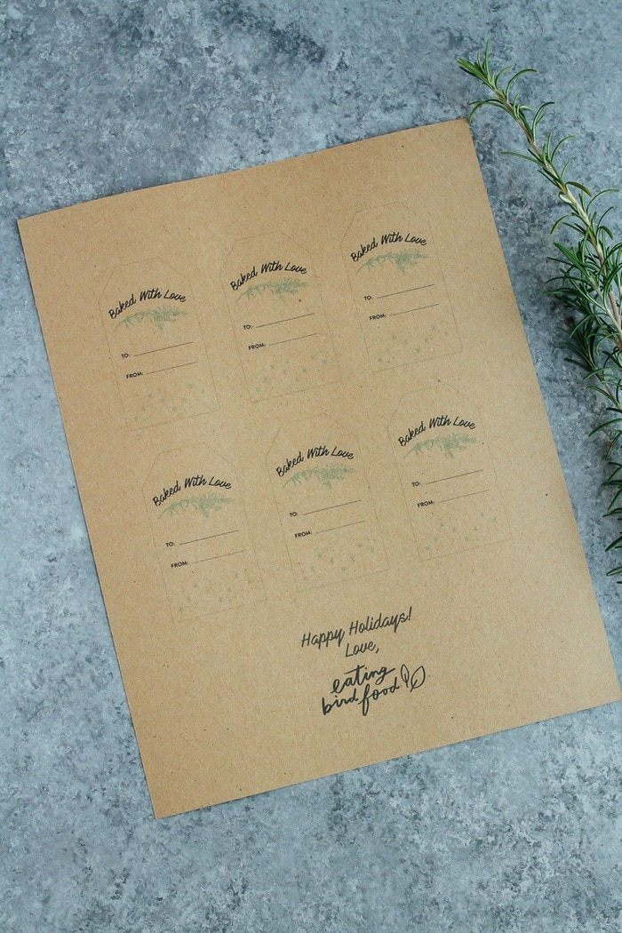 FREE 'Baked With Love' Printable Gift Tags