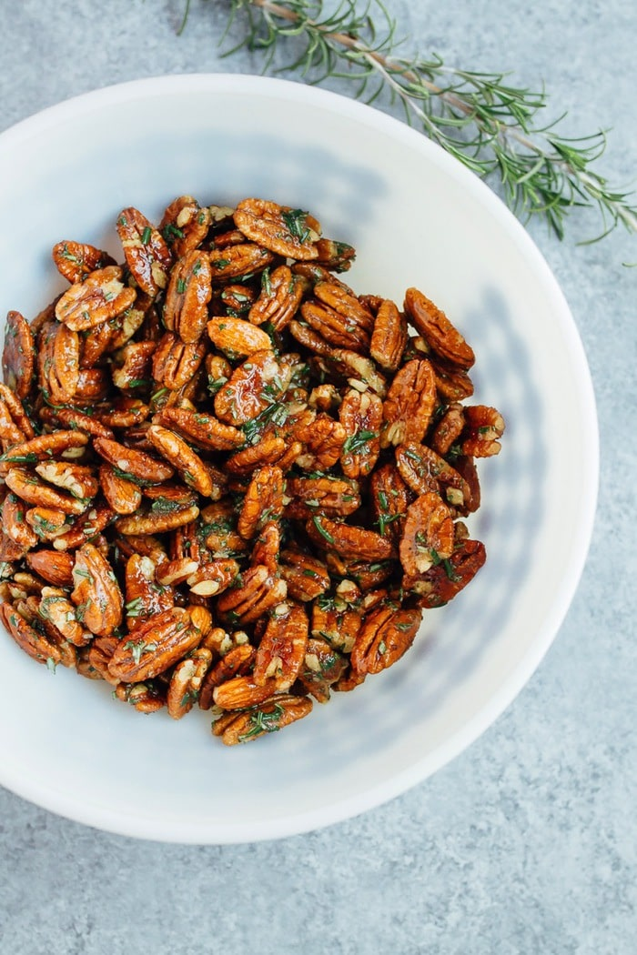 Rosemary Candied Pecans