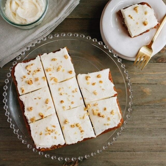 Paleo-Friendly Carrot Cake Bars