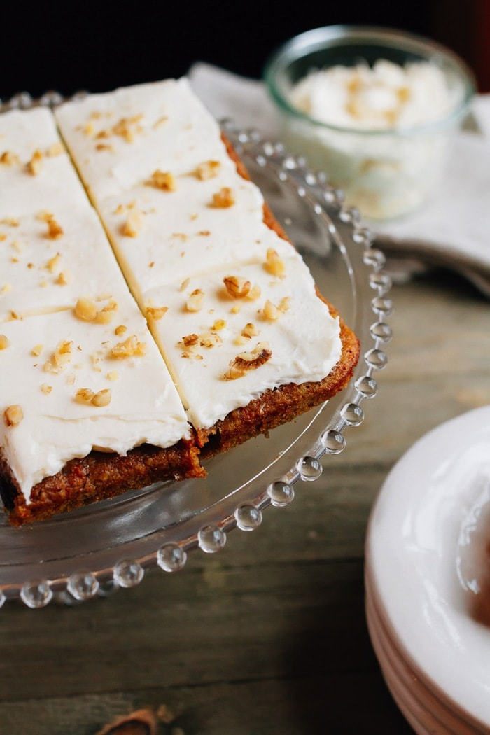 Paleo-friendly carrot cake bars made with almond flour and sweetened ...