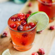 Sparkling Vodka Cranberry with Lime