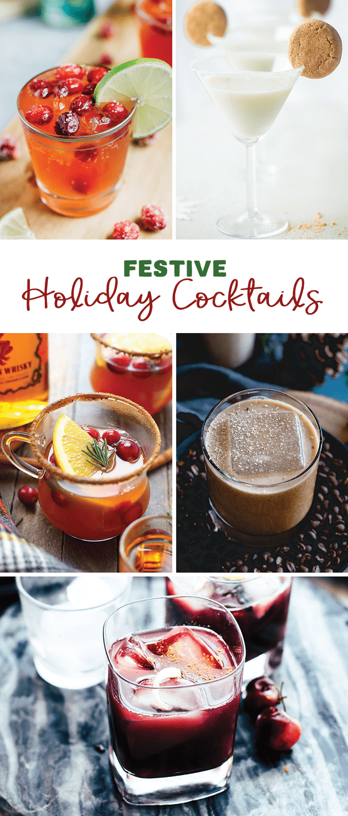 Delicious and Light Festive Holiday Cocktails