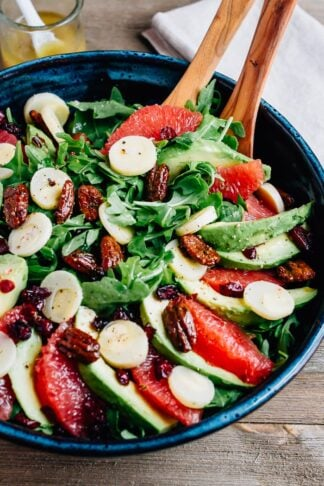 Grapefruit Avocado Salad with Hearts of Palm