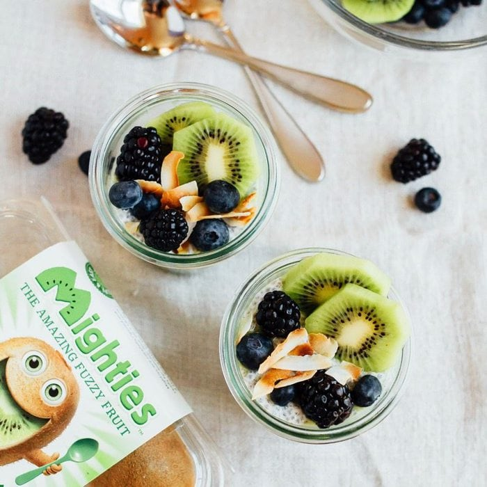 Kiwi Chia Pudding Parfaits made with Mighties Kiwi