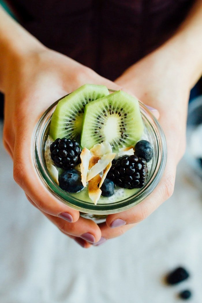 This Kiwi Chia Pudding Parfait is a unique way to enjoy fresh kiwi. The combo of chia seed pudding and kiwi puree makes for a healthy breakfast or snack that's filling and delicious.