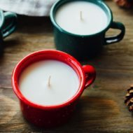 Homemade Enamelware Mug Candles