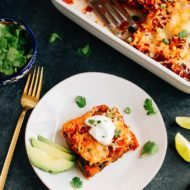Sweet Potato Black Bean Enchilada Bake