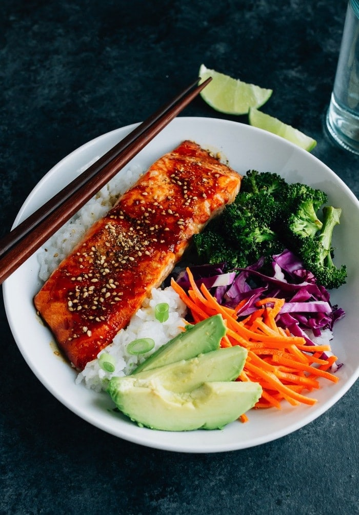 Teriyaki Salmon with Broccoli and Rice