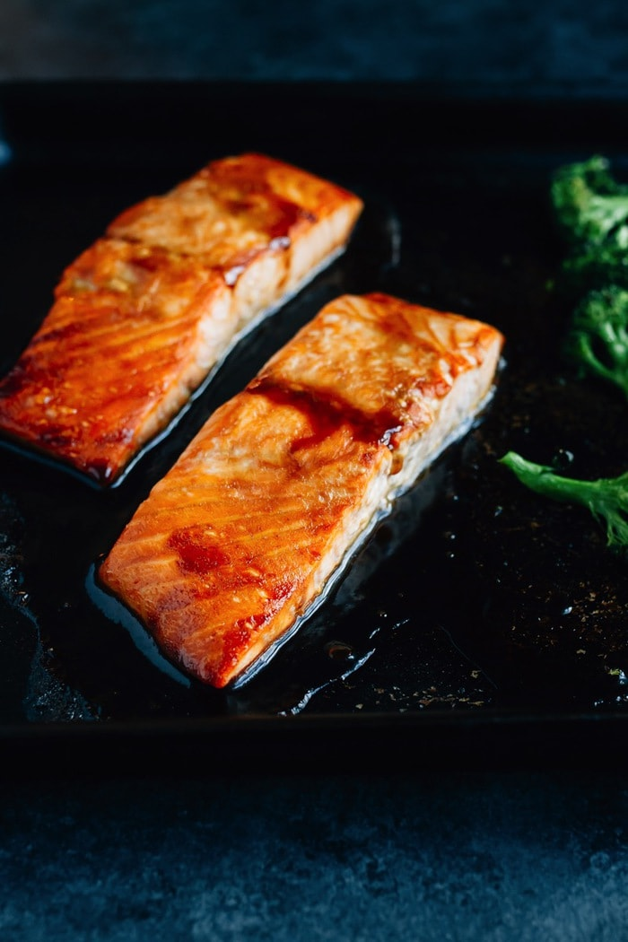 Teriyaki Salmon With Broccoli And Rice Bowl Meal