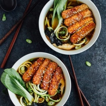 Cooking with Tempeh: Zucchini Noodle Ramen